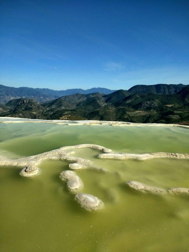 CaCO3 calcium carbonate limestone formation Hierve el Agua walls