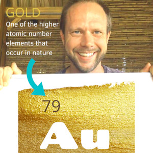 Gold Element is Atomic Number 79 on the Periodic Table of the Elements