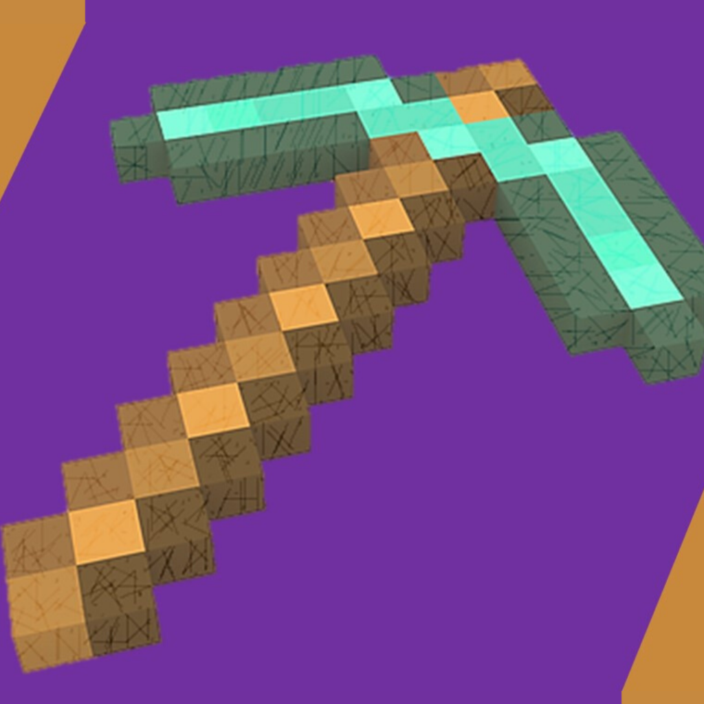 Minecraft diamond pickaxe
