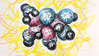 molecule artist rendition art