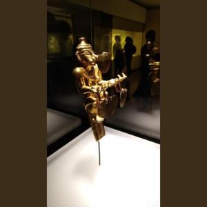 Rare pre Hispanic gold artifact at Museo del Oro Bogota Colombia