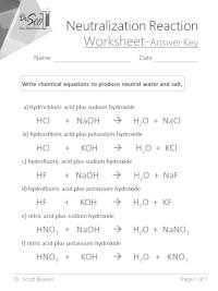 neutralization reaction worksheet answer key pdf file