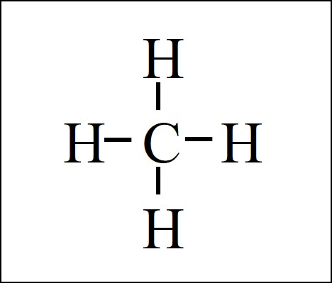 methane natural gas CH4 lewis structure