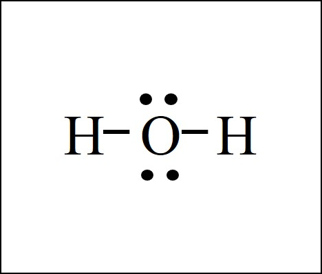 water H2O lewis structure